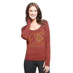 NBA Cleveland Cavaliers Womens 47 Forward Dash Long Sleeve Tee Shift Cardinal Medium >>> Click on the image for additional details.