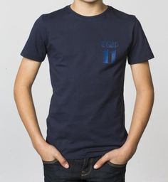 BOYS - EQIP-11 T-shirt - navy. For hockey players who also want to radiate team spirit and sportsmanship.