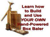 Baling Pine Straw using a Hand Powered Box Baler | East Texas Pine Straw