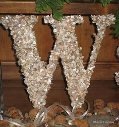 Custom Beach Wedding Monogram Natural Beautiful Crushed Sea Shell Destination Beach Wedding