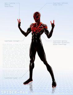 Spider-Man / Miles Morales – OG Marvel remix DB by ogi-g on DeviantArt Spiderman Suits, Spiderman Art, Amazing Spiderman, Spiderman Drawing, Superhero Characters, Comic Book Characters, Comic Character, Marvel Art, Marvel Heroes