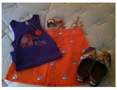 Clemson Girl Gameday Outfits - See all of the Clemson Girl gameday style photo submissions from Clemson vs. Clemson Vs, Clemson Tigers, Fashion Photo, Girl Fashion, Georgia, Pride, Gift Ideas, Orange, Outfits