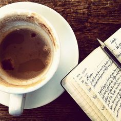 coffee & journal - the best way to write!