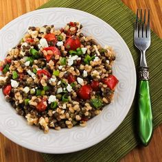 Kalyn's Kitchen: Recipe for Lentil and Barley Greek-Style Salad with Tomatoes, Feta, and Capers