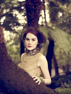 Michelle Dockery from Downton Abbey in Elle Editorial