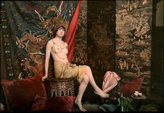 Autochrome by Marcel Meys - Seated Nude, 1913