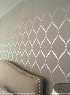 accent wall bedroom, accent wall Luxurious Ways to Accent a Bedroom Wall - Bedroom Stencils, Large Wall Stencils for Painting Feature Wall Art. Painted Feature Wall, Feature Wall Bedroom, Accent Wall Bedroom, Master Bedroom, Painted Accent Walls, Feature Wall Design, Bedroom Wall Paints, Bedrooms With Accent Walls, Bedroom Wall Decals