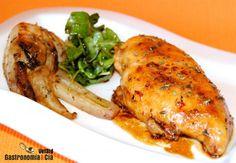 Pollo agridulce con hinojo
