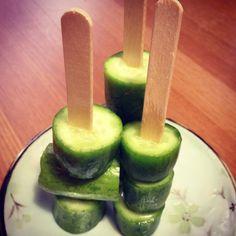 Persian cucumbers on sticks