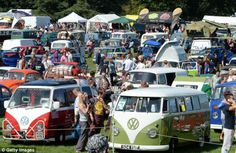 From Camper Vans to Beetles, Volkswagen owners gathered at Harewood House in Yorkshire this weekend to show off their finest models this weekend. Camper Life, Camper Van, Scarborough Castle, Harewood House, Surfer Guys, Cool Campers, Vintage Vans, Buckingham Palace, Great Britain