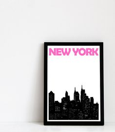 New York City Print:    Its printed on high quality Epson Archival Matte Paper (192g/m2) using Pigment Inks, which means that it is archival,