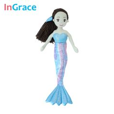 InGrace high quality princess style mermaid dolls for girls best gift toys for kids girls 10 colors 45CM dream stuffed girl doll #>=#>=#>=#>=#> Click on the pin to check out discount price, color, size, shipping, etc. Save and like it!