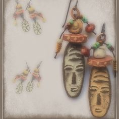 2 new tribal listings, 1 in ceramic, 1 in pewter and bone. Refreshing palettes of ivory, soft salmon, pale orange, vibrant yellow, with Carnelian and Mother of Pearl. They're fun! Have a great rest of the day! ☮