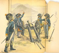 Artillery of the republican soldiers in the French Revolution Military Weapons, Military Art, Military History, Best Uniforms, Military Uniforms, Italian Campaign, French History, French Army, French Revolution