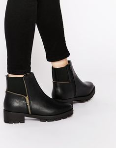 Image 1 ofTruffle Collection Kiley Zip Ankle Boots