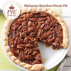 Molasses-Bourbon Pecan Pie Recipe from Taste of Home -- shared by Charlene Chambers, Ormond Beach, Florida