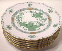 """Herend """"Indian Basket"""" - would love to mix and match this with my Chinese Bouquet Green pattern - love love love!!!"""