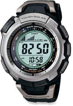 Casio Men's PAW1300-1V Pathfinder is Multi-Band Solar Atomic Black Watch