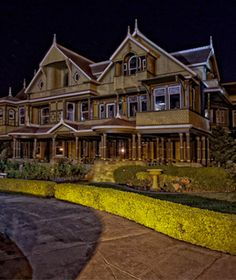 Winchester Mystery House, San Jose California    I've been here. It's a blast and I wish I could go during the haunted tours.