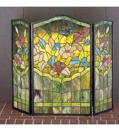 Meyda Tiffany 40 Inch W X 34 Inch H Butterfly Fireplace Screen 27237