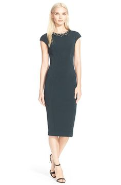 Ted Baker London 'Dardee' Embellished Body-Con Dress available at #Nordstrom
