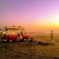 Compact Car Camping Essentials - Way Outdoors Vw T1 Camper, Kombi Motorhome, Camper Van Life, T1 Bus, Volkswagen Bus, Vw Camping, Camping Life, Rv Life, Homemade Camper Van