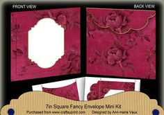 Hot Pink Rose Plain Fancy 7x7inch Easy Envelope Mini Kit on Craftsuprint - Add To Basket!