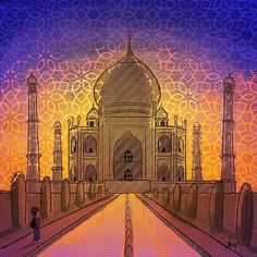 A symbol of love, beauty, grandeur. An attempt at creating paradise on earth. Man and his fascination with paradise. Man and his biggest illusion, the paradise. -@sankirtgalande .    Guys checkout @jims.daily 😃 where me and my friend have been putting up some interesting content.    Taj Mahal #tajmahal #7wonders #illustration #india #incredibleindia #paradise #love #undertenminutes #travel #art🎨 #world #instadaily #instaarts #quicksketch #religion #atheism #jimsdaily #wordporn #comics