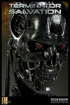 SIDESHOW TERMINATOR T-700 ENDOSKELETON LIFE-SIZE BUST STATUE FIGURE MINT IN BOX