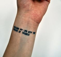 500 Days of Summer Quote Temporary Tattoo by temporarytattooyou