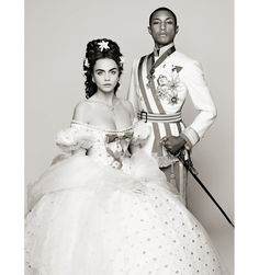 """http://www.listfree.org/130075-pharrell-and-cara-delevingne-star-in-a-wonderful-historical-fairy-tale-for-chanel.html Want to see Cara Delevingne and Pharrell Williams sing and dance together in a royal 19th century dream sequence? Obviously. And, thanks to the wondrously wacky mind of Karl Lagerfeld, we can. """"Reincarnation,"""" the Kaiser's latest film for Chanel—which accompanies the brand's annual Métiers d'Art show, set this year in Salzburg, Austria"""