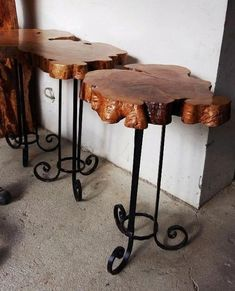 Best Innovative Cookie Slabs Ideas for Attractive Home Interior rustic furniture furniture western furniture bedroom rustic furniture Unique Wood Furniture, Log Furniture, Furniture Projects, Furniture Design, Western Furniture, Furniture Vintage, Furniture Online, Furniture Logo, Furniture Refinishing