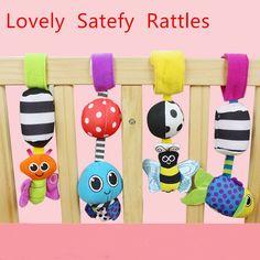 HOT Koop Baby Rammelaars opknoping Bee met geluid Leuke Dier Zuigeling babybedje kinderwagen speelgoed 0-12 maanden pluche vlinder bed play pop