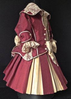 Antique reproduction lined Silk doll dress by DollCoutureBoutique on Etsy