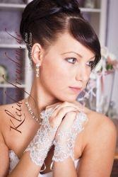 Luxus Brauthandschuhe, ein Hauch von Spitze für die Braut