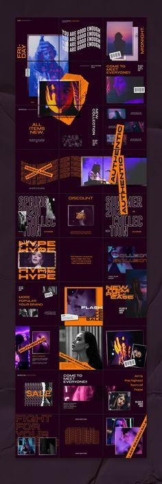 Graphic Assets on Behance Feeds Instagram, Instagram Grid, Instagram Design, Instagram Feed Theme Layout, Instagram Story Template, Web Design, Grid Design, Graphic Design Posters, Graphic Design Typography