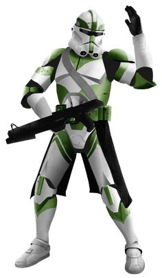 Clone Marshal Commander Necro with his DC-15S blaster carbine (19 BBY)