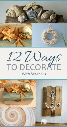 Here are some great ways to decorate with those seashells you've been collecting!