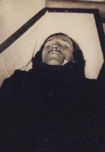 Edgar Allan Poe, photographed in death.