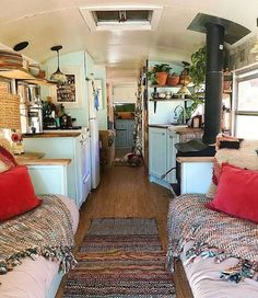 Image may contain: 1 person, living room and indoor - Vanlife & Caravan Renovation