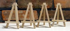 Small Wooden Easels - Aceo, Mini Displays, Mini Paintings Or Photo Display