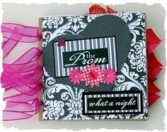 like the use of patterned paper as well as the flowers with gems