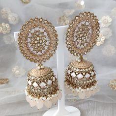 Jhumki Earrings, Dangle Earrings, Crochet Earrings, Silver Paint, Dangles, Peach, Gold, Jewelry, Fashion