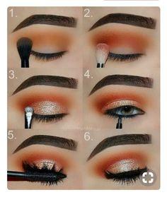 Makeup Tutorial: Orange and Gold Glam Eye Make-up Step for .- Makeup-Tutorial: Orange und Gold Glam Eye Make-up Schritt für Schritt Tutorial Makeup Tutorial: Orange and Gold Glam Eye Makeup Step by Step Tutorial, …, up - Eye Makeup Remover, Skin Makeup, Makeup Eyeshadow, Eyeshadows, Gold Makeup, Eyeshadow Makeup Tutorial, Eyeliner Pen, Makeup Cosmetics, Make Up Gold
