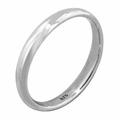 Sterling Silver 3mm Wedding Band Avend Concepts. $14.95
