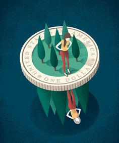 Editorial illustration for Redbook magazine. #saving #editorial #illustration…
