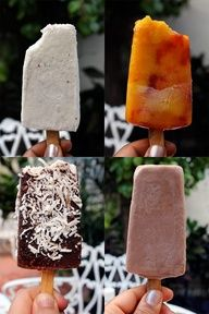 Natural ice popsicles