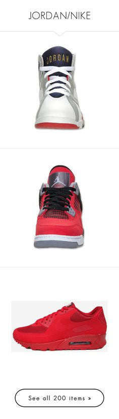 """JORDAN/NIKE"" by idc-baby ❤ liked on Polyvore featuring shoes, jordans, sneakers, nike, chaussures, white, white shoes, nike sneakers, nike trainers and canvas shoes"