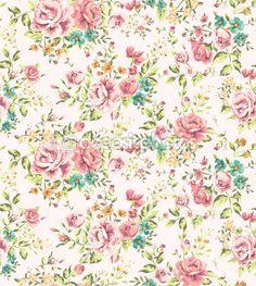 de papel de parede clássico sem costura flor vintage vector fundo