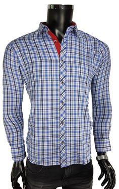 Koszula męska slim bordowy Koszule męskie Awii, Odzież
